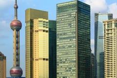 上海浦东lujiazui高层建筑物 图库摄影