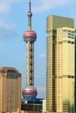 上海浦东lujiazui高层建筑物 免版税图库摄影