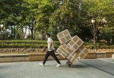 上海的人们最富有的城市在中国 库存照片