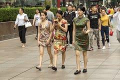 上海的人们最富有的城市在中国 免版税库存图片