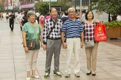 上海的人们最富有的城市在中国 免版税图库摄影