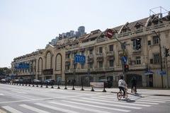 上海街道视图  免版税库存照片