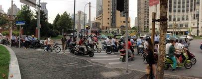 上海通勤者 免版税库存照片