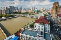 上海都市风景,中国 免版税库存图片