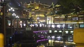 上海,中国- 2018年1月15日:豫园庭院是在城市上帝寺庙旁边位于的一个广泛的中国庭院  影视素材