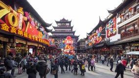 上海,中国- 1月 26日2019年:灯节在农历新年猪该年 股票视频