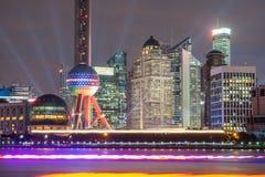 上海,小组地标现代企业大厦 图库摄影