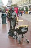 上海, CHINA-15 OKT.2013古铜雕象 库存照片