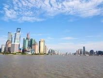 上海, huangpu河 免版税图库摄影