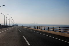 上海洋山港经济FTA东海大桥 库存照片