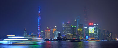 上海-浦东新的地区 免版税库存图片