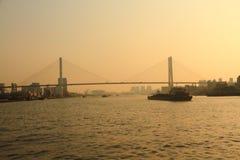 上海黄浦江和南浦大桥 免版税库存图片