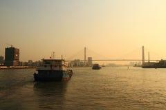 上海黄浦江和南浦大桥 免版税图库摄影