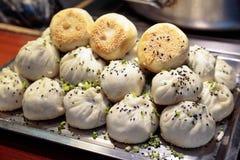 上海-饺子,热吃 免版税库存图片