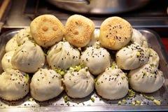 上海-饺子,热吃 库存照片