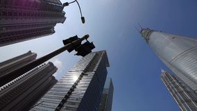 上海lujiazui财务中心&摩天大楼,转动透镜 影视素材