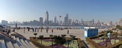 上海waitan全景 库存照片