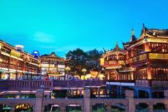 上海yuyuan在黄昏 库存图片