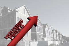 上涨的住房价格 免版税库存照片