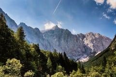 登上特里格拉夫峰的北部面孔 免版税库存照片