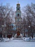 上生叶卡捷琳堡的教会 免版税库存照片