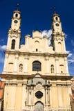 上生壮观的洛可可式的教会,维尔纽斯,立陶宛 库存照片