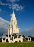 上生的教会在Kolomenskoe,莫斯科 免版税库存照片
