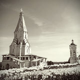 上生的教会在Kolomenskoye,莫斯科,俄国 库存照片