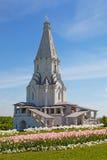 上生的教会在Kolomenskoye,莫斯科,俄罗斯 免版税库存图片