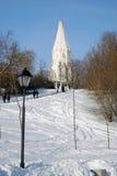 上生的教会在Kolomenskoye,莫斯科 免版税图库摄影