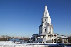 上生的教会在Kolomenskoye,莫斯科 图库摄影