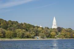 上生的教会在Kolomenskoye 库存照片