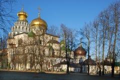 上生耶路撒冷修道院莫斯科新的冬天 库存图片