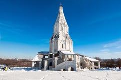 上生16世纪的教会在Kolomenskoye 莫斯科俄国 免版税库存照片
