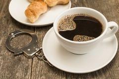 上瘾的咖啡 库存图片