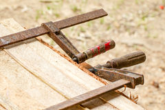 登上的木匠业新闻 库存图片