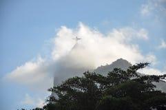登上的Corcovado,里约热内卢(巴西)里约热内卢基督象 免版税图库摄影