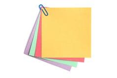 上色不同的便条纸 免版税库存图片