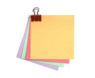上色不同的便条纸 免版税库存照片