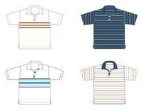 上色不同的设计球衣 免版税图库摄影