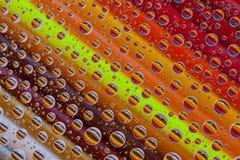 上色与下落的抽象被设置的背景和铅笔 免版税图库摄影