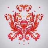 上色与花的传染媒介无缝的样式与传统embr 免版税库存照片