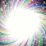 上色与许多星的焕发在宇宙 库存例证