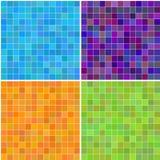 上色五颜六色的多无缝的方形瓦片 免版税库存照片