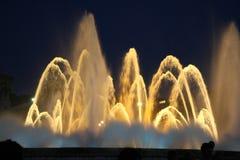上色喷泉 免版税图库摄影