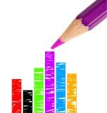 上色图画充分的图象铅笔紫色 免版税图库摄影