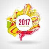 上色大理石新年 免版税图库摄影