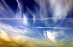 上色天空 库存图片
