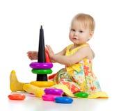 上色女孩少许使用的玩具 库存照片