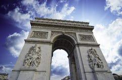 上色巴黎冬天 免版税库存图片